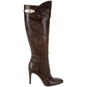 Gucci Alligator Malaga Kid Tall Boots